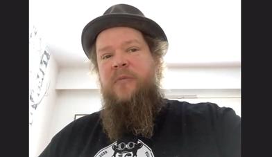 Kuvakaappaus  Ville Haapasalon puheenvuorosta.